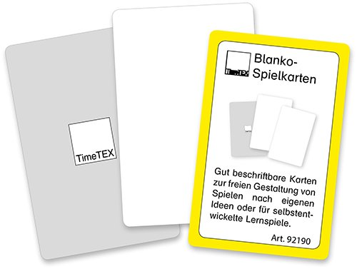 Spielkarten Blanko