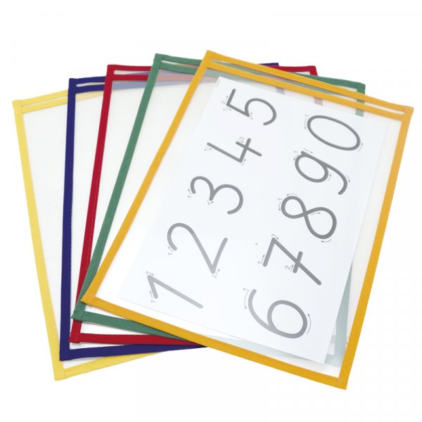 Lern- und Sammeltaschen A4-Plus hochkant, mit Farbeinfassung, 10-tlg.
