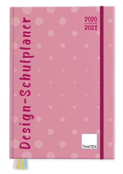 TimeTEX Design-Schulplaner A5-Plus 2020/2021, pink