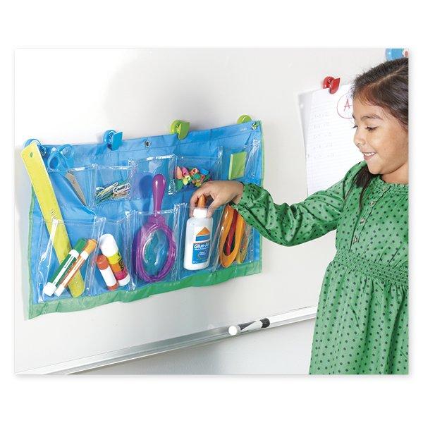 Material-Taschen-Vorhang mit 10 Einstecktaschen, 61x30 cm