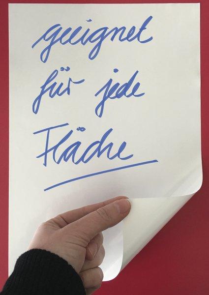 Set Whiteboard-Folie statisch A4, 10-tlg., weiß