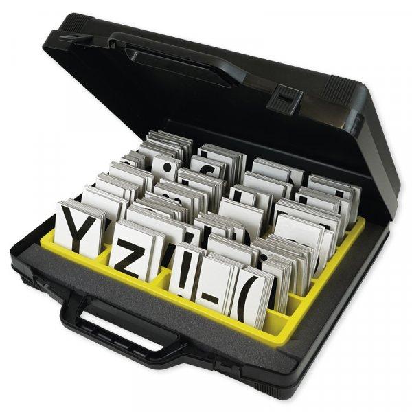 Magnetischer Buchstabensatz, 340-tlg. im Koffer