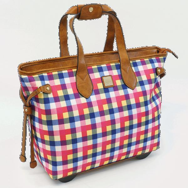 """TimeTEX Handtaschen-Trolley """"Bella"""", bunt-kariert"""