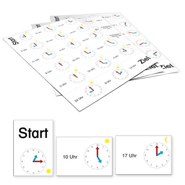Domino Uhrzeiten 180-tlg., aus Pappe
