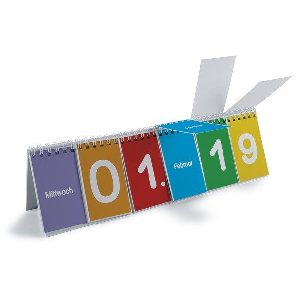Klappen-Flipchart aus Pappe, Kalender