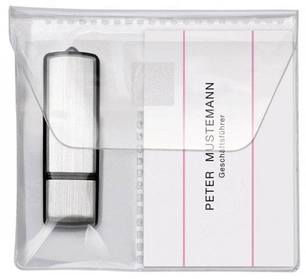 USB-Stick-Tasche mit Klappe, selbstklebend, 2 Stück