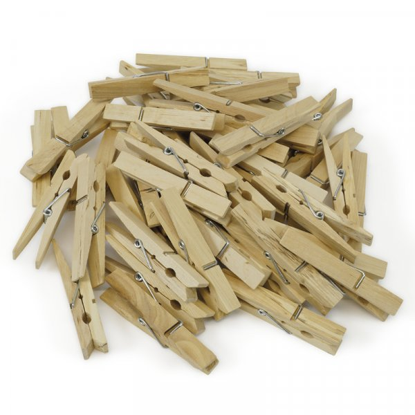 Holz-Klammern 70 mm natur, 50 Stück