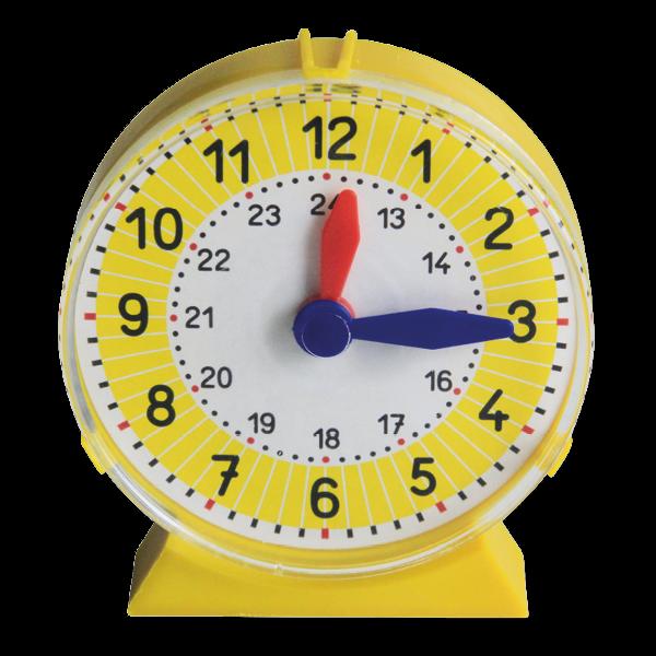 Schüler-Uhr mit Ziffernblatt-Abdeckung, einzeln, ca. 11 cm ø