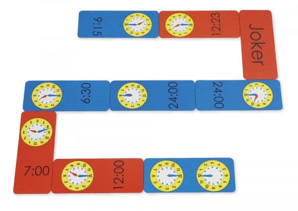 Uhrzeiten-Domino XL 1-24 Uhr, 60-tlg.