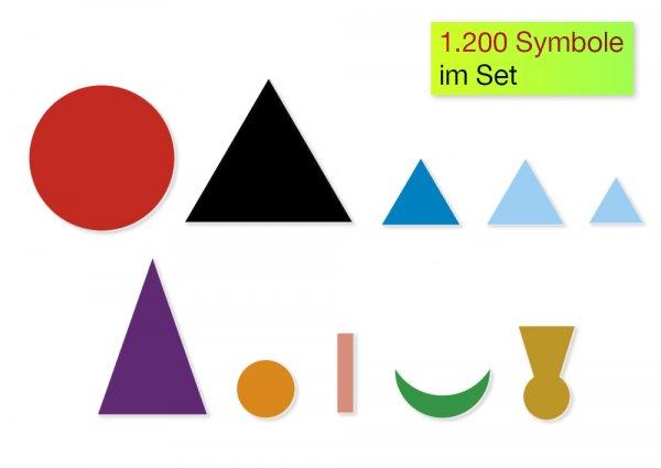 Set Wortarten-Symbole, aus Pappe, zum Legen, 1.200-tlg.