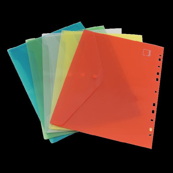 Set Dokumentenmappe A4 zum Abheften, 5-tlg., farbsortiert
