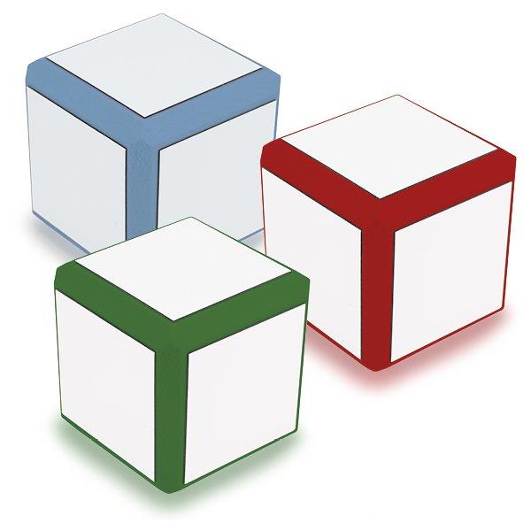 Blanko-Würfel mit weißen Flächen, 8 cm