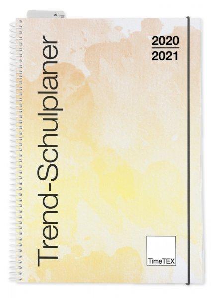 TimeTEX Trend-Schulplaner A4, 2020/2021, aquarell