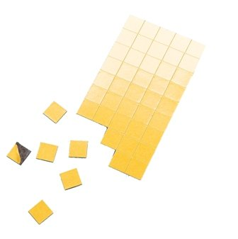 Magnet-Plättchen selbstkl., 15x15 mm, 91 Stck