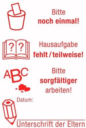 """Siebdruck-Stempel """"Perpetuum"""", 4 in 1, """"Unterschrift"""""""