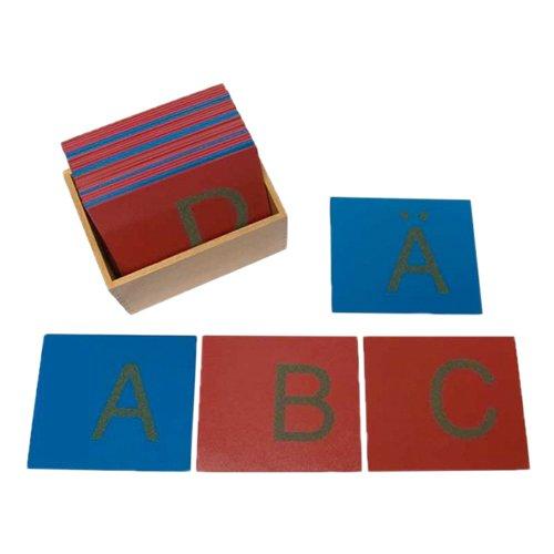 Sandpapierbuchstaben, Großbuchstaben, in Holzbox