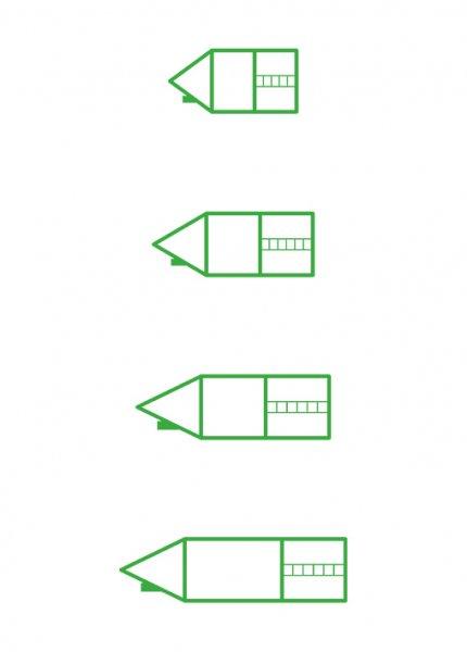 """Siebdruck-Stempel """"Perpetuum"""", 4 in 1, """"Schreiblern-Haus"""""""