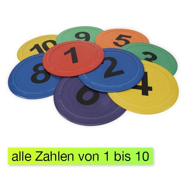 """Boden-Zahlen """"Bewegtes Lernen"""" 1-10, 10-tlg."""