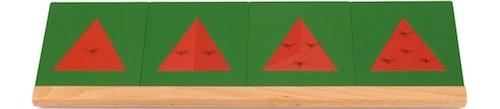 Geteilte Dreiecke mit Holzständer, 15-tlg.