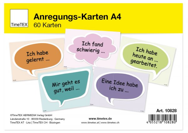 TimeTEX Anregungs-Karten A4, 60-tlg.