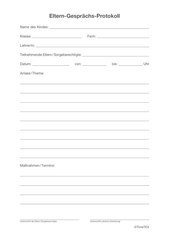 Block Eltern Gesprächs Protokoll A5, 50 Blatt mit Durchschlag