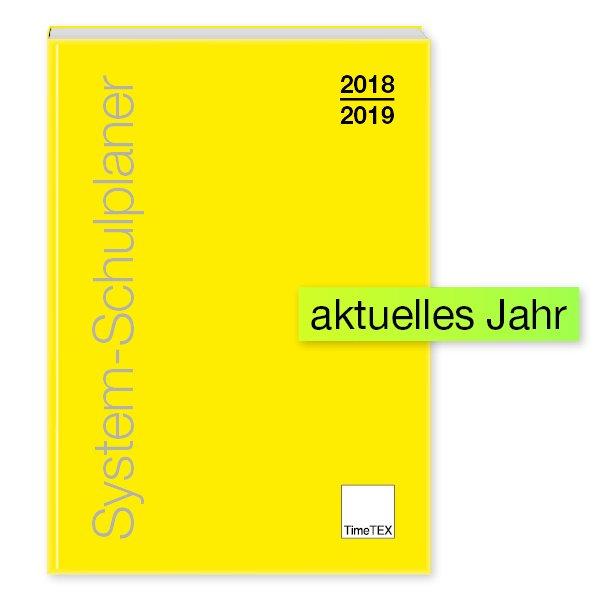 TimeTEX System-Schulplaner A4-Plus, gelb, 2018/2019