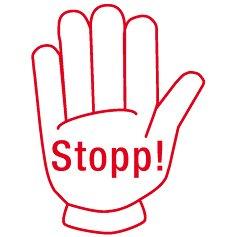 """Siebdruck-Stempel """"Perpetuum"""", """"Stopp!"""""""