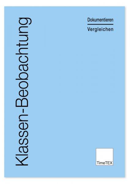 TimeTEX Heft Klassen-Beobachtung A4, 64 Seiten