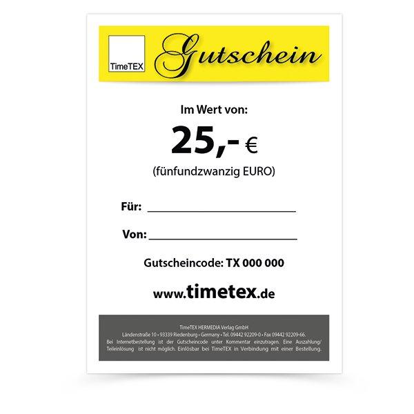 TimeTEX Gutschein 25,00