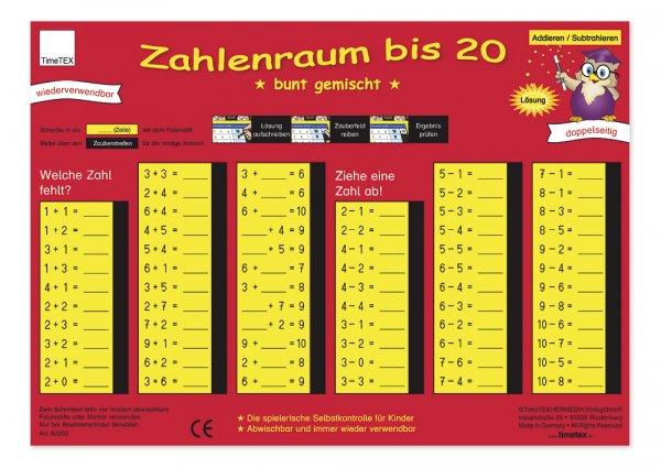 "TimeTEX Zaubertafel ""Mathematik"" Zahlenraum bis 20"