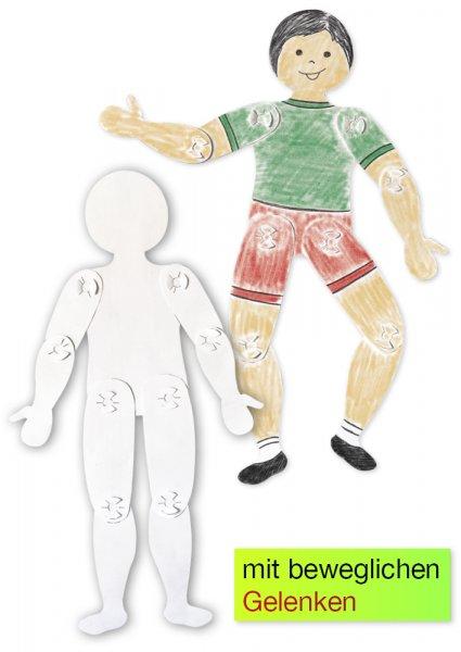 Menschensilhouetten zum Selbstgestalten, beweglich, 24 Stück