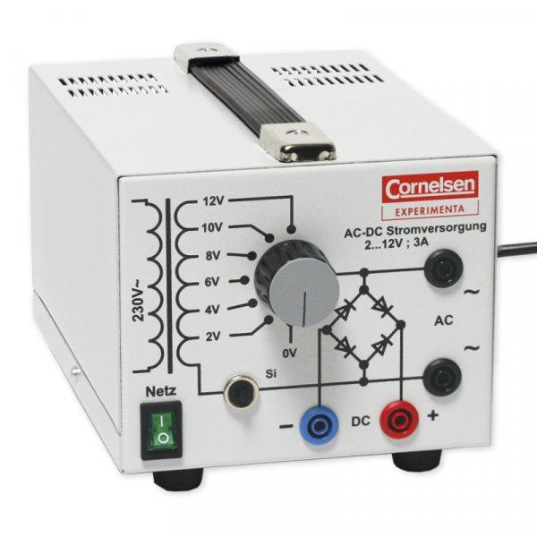 Stromversorgungsgerät, 2 bis 12 V / 3 A