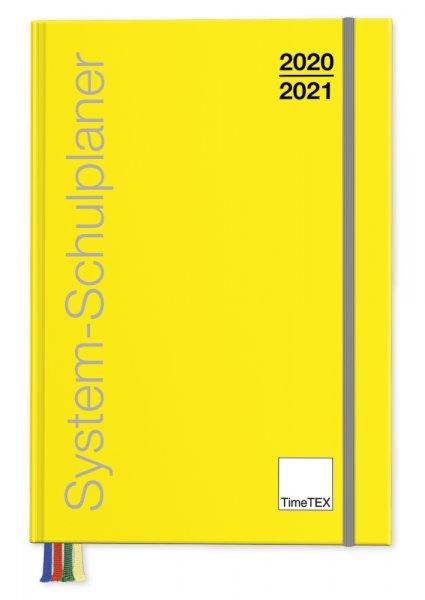TimeTEX System-Schulplaner A5-Plus, gelb 2020/2021